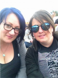 Me and Kate, enjoying the sunshine (not pictured) on Saturday